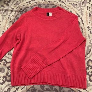 H&M Hot Pink Cropped Sweater
